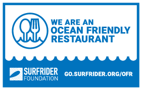 We are an ocean friendly restaurant